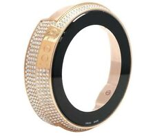 Gucci Rose Gold Plated White Diamond Case for I Gucci Digital Watch YA114 4 Ct