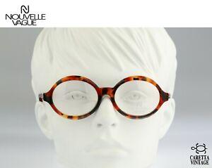 Nouvelle Vague Joice S 145 52, Vintage 80s tortoise oversized round eyeglasses