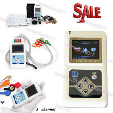 US Seller ECG/EKG Holter Recorder Analyzer 24 hours Monitor 3 Channel System SW