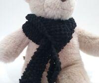 Teddy Bear Clothes, Handmade Black Knitted Scarf