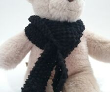 Teddy Bear Clothes, Handmade Black Knitted Scarf