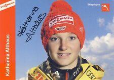 Autogrammkarte: Katharina Althaus (2) - signiert