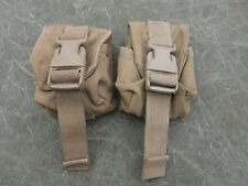 USMC MOLLE II Hand Grenade Pouches, Coyote Brown Lot of two (2) Very Good