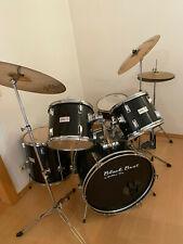 Schlagzeug Set - Black Beat by Golden Ton m. besseren Becken, HiHat u. SnareDrum