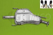 OPEL ZAFIRA A 1.6 1.8 16V 2.2 16V 99-05 Silencieux arrière Échappement +attaches