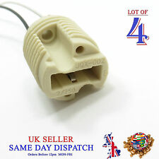 4x G9 Base Ceramic Socket Lamp Holder Cable Halogen LED Bulb Light Fitting