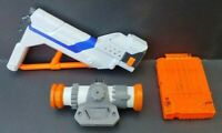 3 Nerf elite Upgrade Shoulder Stock, scope, 6 dart cart clip Accessory Lot Works