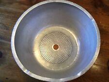 """Hobart Vcm 40 Bowl Insert Colander Bottom Used 19 1/4"""" Across"""