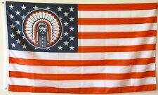 US Stars& Stripes Illinois Fighting Illini Chief Flag Banner 3x5 Feet US Shipper