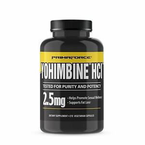 Primaforce Yohimbine HCl 2.5mg Burn Fat Loss, 270 Vegetarian Capsules - 09/2022