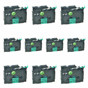 10PK TZe-731 Black On Green Label compatible with Brother P-Touch 12mm PT-H100