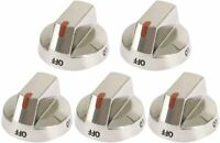 DG64-00473A Top Burner Control Dial Knob Range Oven replacement Stainless Steel