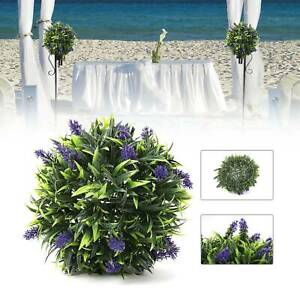 30CM Artificial Fake Lavender Ball Flower Hanging Basket Garden Home Party Decor