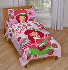 Toddler Bed Set Strawberry Cupcake Cotton Bedding With Pillow Case Sheet Girls
