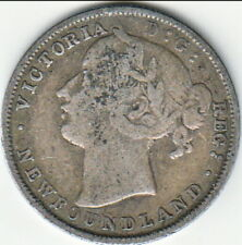 1870 Newfoundland Twenty Cents with Counter Stamped