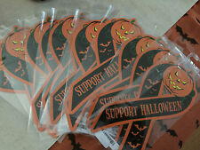 SUPPORT HALLOWEEN RIBBION CAR MAGNET - NEW  8t X 4w