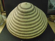 African  Basket- Large, sloped, Lidded