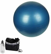 65cm GYM BALL ANTI BURST SWISS CORE EXERCISE YOGA FITNESS BIRTHING FITBALL BLUE