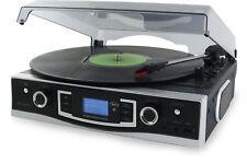 Soundmaster PL525 Schwarz - Silber Plattenspieler