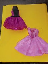 Barbie Doll Dress Lot of 2 Party Ballroom Gown Clothes Toys Accesories