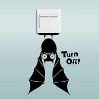 Bat Switch Sticker Cartoon Animals Halloween Decoration Vinyl Wall Stickers TPCA