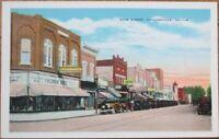 Collinsville, IL 1930s Postcard: Main Street / Downtown - Illinois Ill