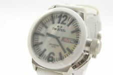 TW Steel CE1037 Canteen MOP Dial White Leather Strap Ladies Watch