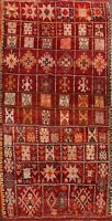 Excellent Vintage Tribal Moroccan Oriental Area Rug Geometric Hand-knotted 6x10