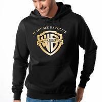 If you see da Police Warn a Brother Satire Party Fun Kapuzenpullover Hoodie