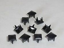 50 Stück Pyramidennieten Pyramiden Nieten Krallen 5x5 mm schwarz NEU rostfrei