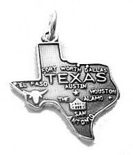LOOK Texas Sterling Silver Charm for bracelet or necklace