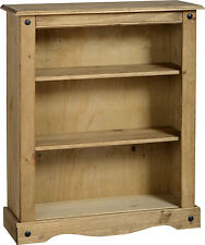 MEXICAN PINE CORONA SMALL LOW BOOKCASE SHELVES *FREE NEXT DAY DELIVERY