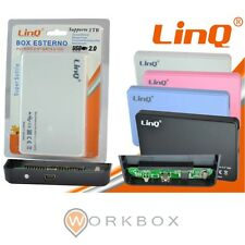 "BOX ESTERNO LINQ IT-ID2505 CASE SLIM HARD DISK 2.5"" HDD IDE  USB 2.0 PORTATILE"