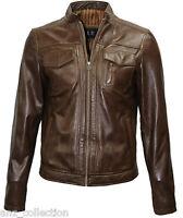 Timber Men/'s Mud Brown Biker Motorcycle Style Soft Genuine Leather Jacket