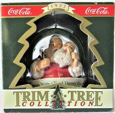 Vintage Coca Cola Christmas ornament Mask Santa Face Coke 1933 Logo Trim A Tree
