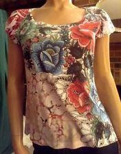 B.L.E.U.~Petite~PS~Floral, Embellished, Short Sleeve, Tunic/Top/blouse
