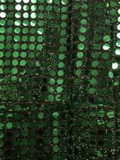 "Sequin Tablecloth, Sequin Table Overlay, Square, 70""x70"", Emerald Green"