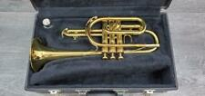 KING INSTRUMENTS 603 USA CORNET W/ HARD CASE & KING 7C MOUTHPIECE PRE-OWNED