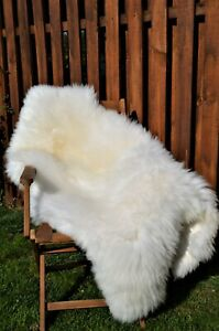 Natural Sheepskin Rug.Beautiful and Very Fluffy.The Biggest On Ebay!!!