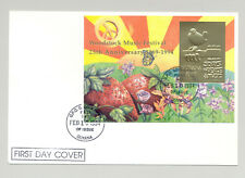Guyana 1994 Woodstock 1v Imperf Gold S/S Gold Inscription on FDC