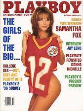 Playboy October 1996 British Rocker Samantha Fox Big 12 College Girls