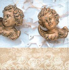 2 Serviettes en papier Anges étoiles Decoupage Paper Napkins Angels