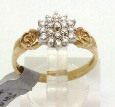 Cluster Natural Fine Diamond Rings