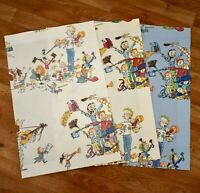 "Lot/3 QUENTIN BLAKE Zagazoo ALL JOIN IN 23""x15"" FABRIC SAMPLE SWATCH 100% Cotton"