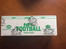 1989 SCORE FOOTBALL VENDING BOX AUTH BY THE BBCE
