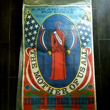 Vintage Poster 1967 THE MOTHER OF US ALL American Pop Opera ROBERT INDIANA