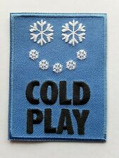COLDPLAY BRITISH POP PUNK ROCK MUSIC BAND EMBROIDERED QUALITY PATCH UK SELLER