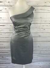 The Limited Women's Cocktail Dress One Shoulder Gray Silver Size 8 NWT