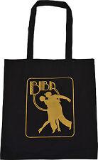 BIBA BLACK COTTON TOTE BAG ART DECO NOUVEAU GOLD KENSINGTON VINTAGE DANCERS
