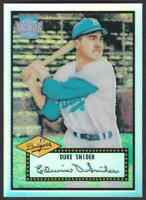 2001 TOPPS ARCHIVES RESERVE REPRINT DUKE SNIDER BROOKLYN DODGERS #99 OF 100